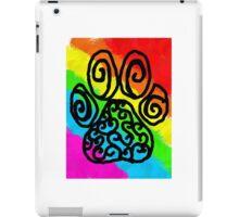 Rainbow Fur Paw Print Swirls iPad Case/Skin