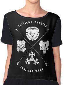 Tedland Wars Tee (White Print) Chiffon Top