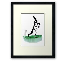 England Cricket old father time - tony fernandes Framed Print