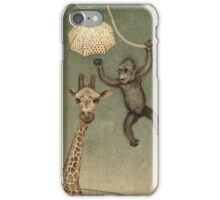 monkey giraffe iPhone Case/Skin