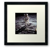 moon landing apollo 11 nasa buzz aldrin 1969 Framed Print
