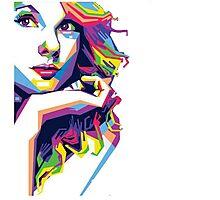 Taylor Swift Polygonal Photographic Print
