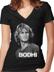 bodhi Women's Fitted V-Neck T-Shirt