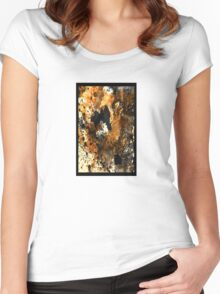 Boxed Abstract Women's Fitted Scoop T-Shirt