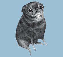 Sweet Black Pug One Piece - Short Sleeve