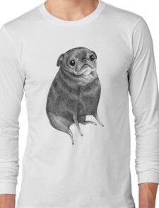 Sweet Black Pug Long Sleeve T-Shirt