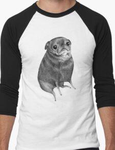Sweet Black Pug Men's Baseball ¾ T-Shirt