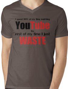 Watching YouTube Mens V-Neck T-Shirt