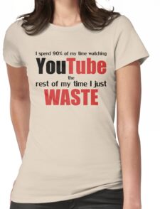 Watching YouTube Womens Fitted T-Shirt
