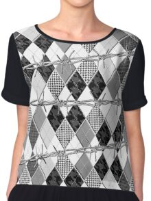 Argyle and Wire Skewers Chiffon Top