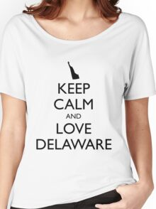 KEEP CALM and LOVE DELAWARE Women's Relaxed Fit T-Shirt