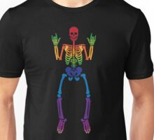 Spooky Rainbow Skeletons (black) Unisex T-Shirt
