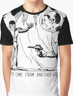They come from another world! Sci-fi Pop Art Graphic T-Shirt