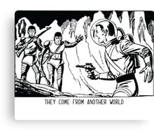 They come from another world! Sci-fi Pop Art Canvas Print