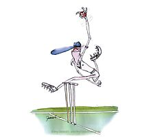 Cricket spin bowler - tony fernandes Photographic Print