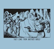 They come from another world! Sci-fi Pop Art Kids Tee