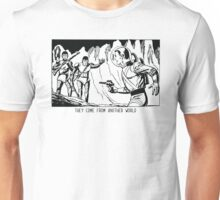 They come from another world! Sci-fi Pop Art Unisex T-Shirt