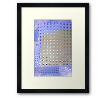 Perforated knit Framed Print