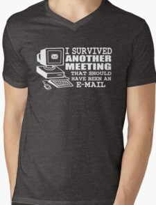 I survived another meeting Mens V-Neck T-Shirt