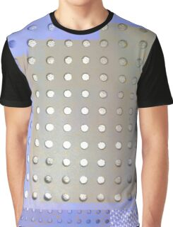 Perforated knit Graphic T-Shirt