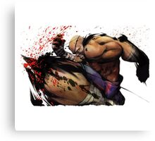 Fighting Canvas Print