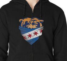 Chicago flag bear Zipped Hoodie