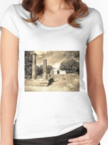 Old Alabama State Capitol  Women's Fitted Scoop T-Shirt