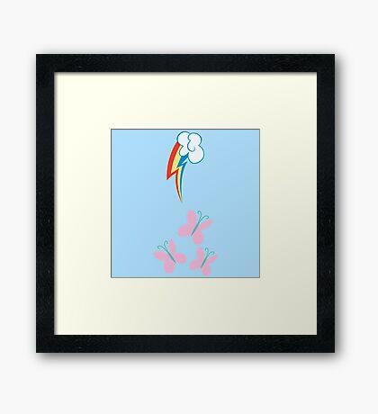 My little Pony - Rainbow Dash + Fluttershy Cutie Mark V2 Framed Print