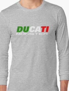 DUCATI MONSTER ITALIAN FLAG Long Sleeve T-Shirt