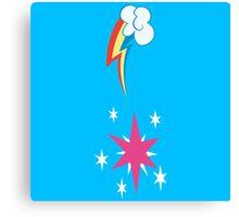 My little Pony - Rainbow Dash + Twilight Sparkle Cutie Mark V2 Canvas Print