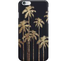 Glamorous Gold Tropical Palm Trees on Black iPhone Case/Skin