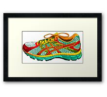 Don't Step on My Shoes! Framed Print