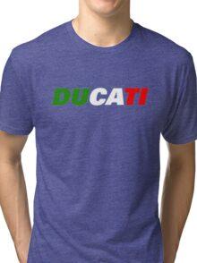 DUCATI ITALIAN FLAG Tri-blend T-Shirt