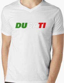 DUCATI ITALIAN FLAG Mens V-Neck T-Shirt