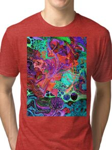 PSYCHEDELIC Color Tri-blend T-Shirt