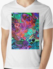 PSYCHEDELIC Color Mens V-Neck T-Shirt