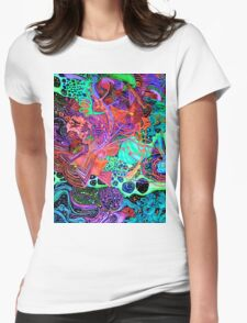 PSYCHEDELIC Color Womens Fitted T-Shirt