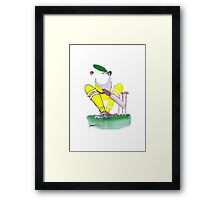 Aussie Cricketer gob smacked, tony fernandes Framed Print