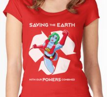 Powers combined Women's Fitted Scoop T-Shirt