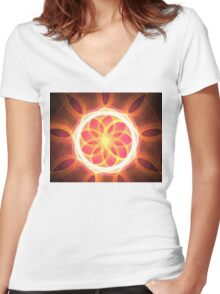 Quadrantids Women's Fitted V-Neck T-Shirt