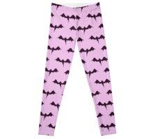 Bats Pastel Purple Pattern Leggings