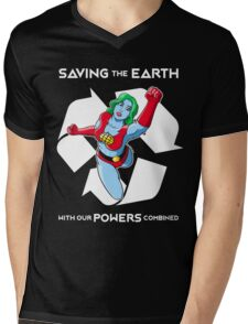 Powers combined Mens V-Neck T-Shirt