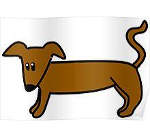 Sausage Dog Poster