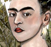 Frida Kahlo Self Portrait #2 (my version) Sticker