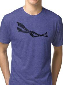 Leonardo TMNT Black Tri-blend T-Shirt