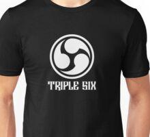 666 Triple Six + Font (white) Unisex T-Shirt