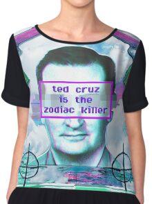 ted cruz is the zodiac killer Chiffon Top