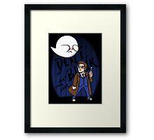 Don't Blink Boo & Dr.who Framed Print
