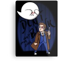 Don't Blink Boo & Dr.who Metal Print