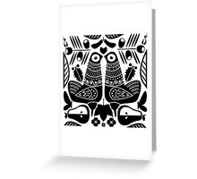 MCM Sanna Black Greeting Card